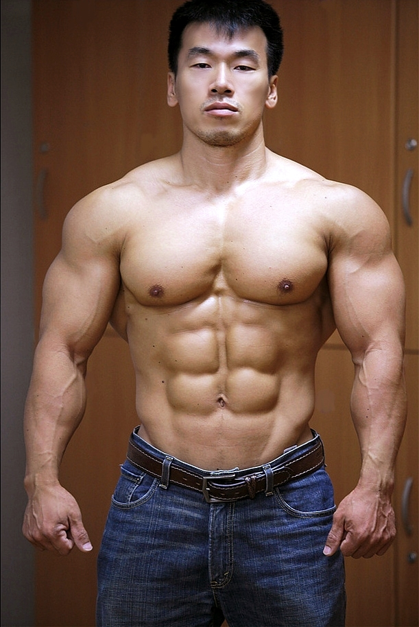 Asian male bodybuilder #7